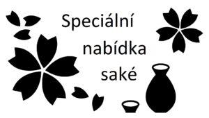 speciální nabídka japonské saké